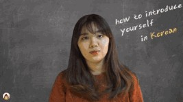 Dialogue In Korean [How to introduce yourself in Korean]